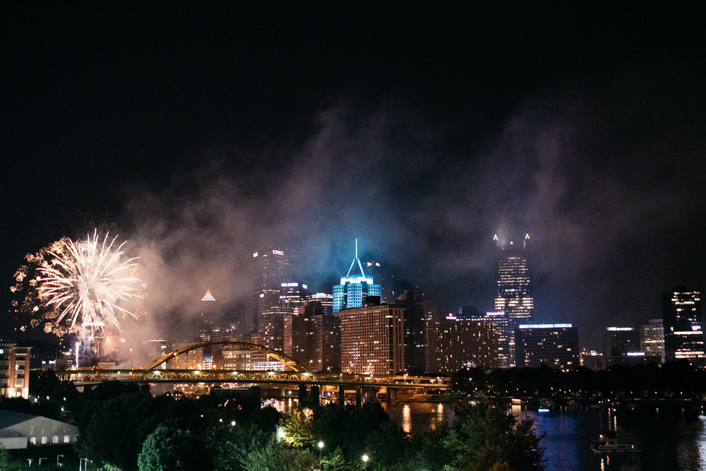 Fireworks, Pittsburgh Wedding Photographer,  Carnegie Science Center, Pointview Hall, Mariah Fisher-6802.jpg