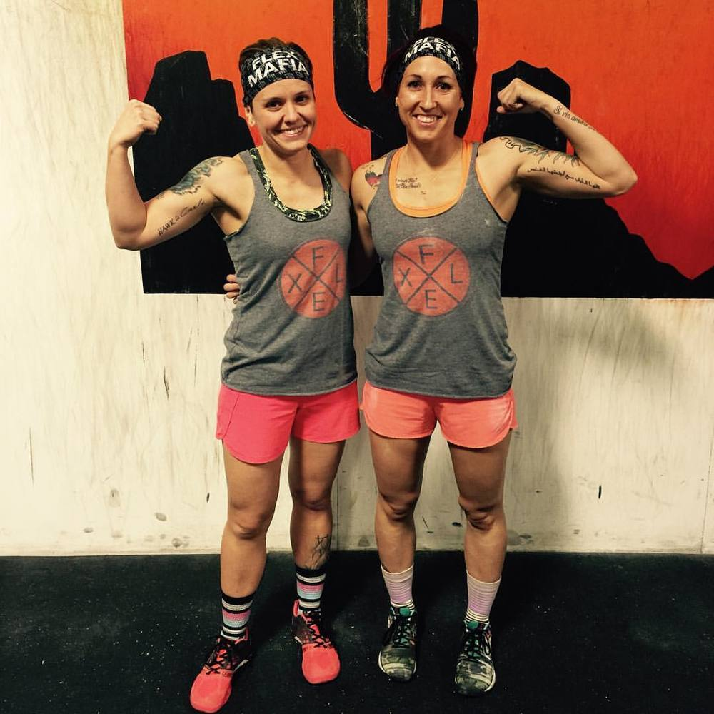 Kelsey (left) and Jen (right) owners of Flex Mafia.