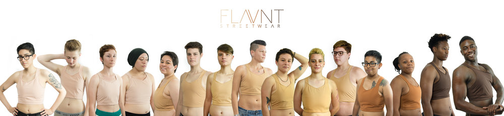 Click the image to enlarge!  Here are our 15 models from the community wearing our 4 different colors.