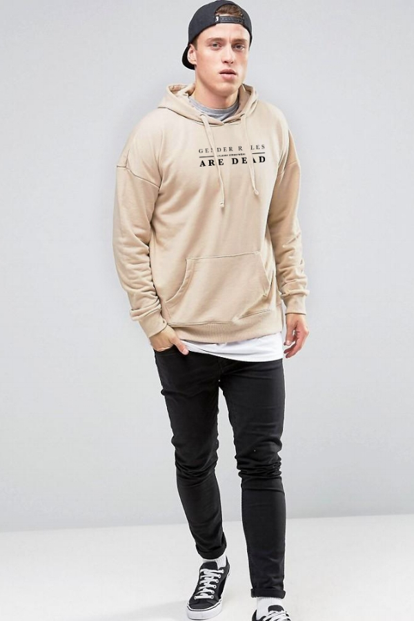 LOOK 10:   Basic Tee   Gender Roles are Dead Hoodie   Black Jeans   Black Snapback   Black Sneakers