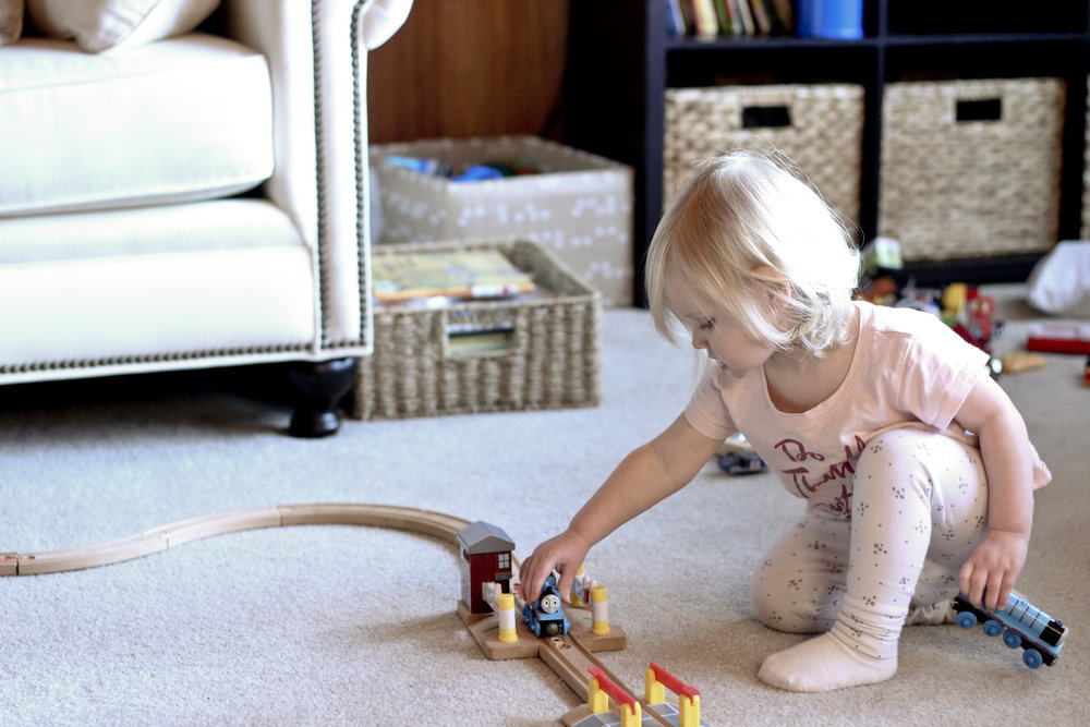 All the dolls at her disposal, and she still chooses Thomas and Gordon.