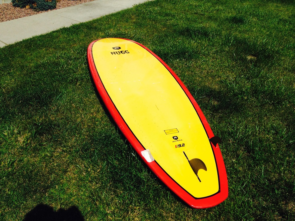 Board drying in the sun.