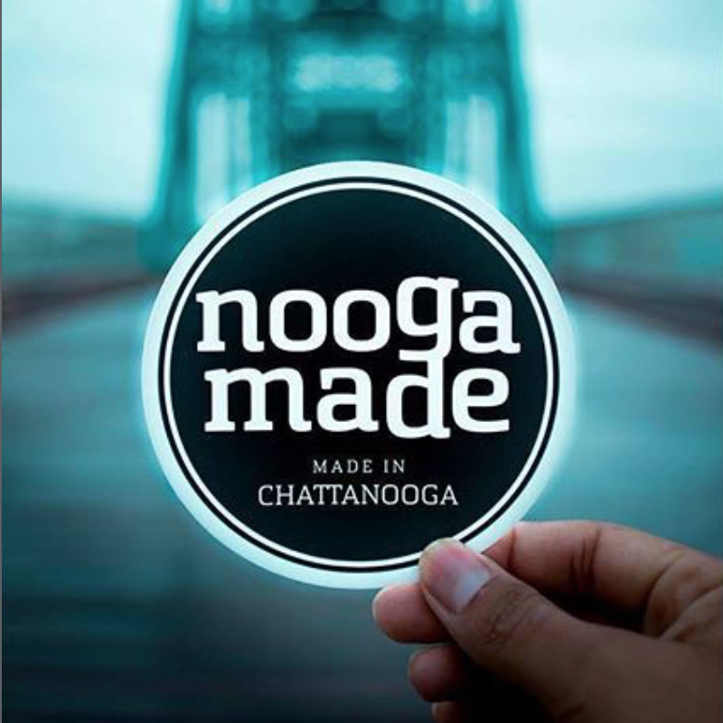 Nooga Made   Project Leader: Richie Johnson  Nooga Made is a grassroots organization and trademark that exists to identify, promote, connect, and certify creations that are proudly made right here in Chattanooga, Tennessee.