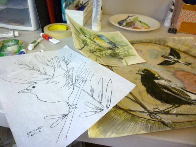Artist Melissa Washburn's studio