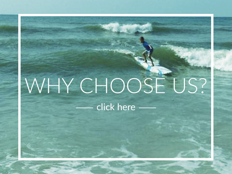 Run by a PROFESSIONAL surfer and we have the best RATES in town! Click above to see some of our customer Testimonials