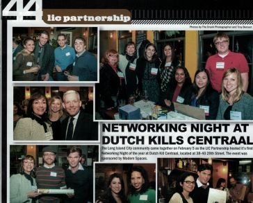 LIC Magazine, full page spread of the successful networking night. Councilman, and majority leader Jimmy Van Bramer in attendance