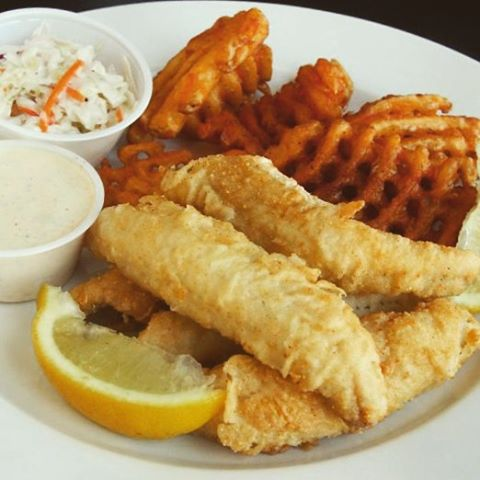 Take off work early and beat the rush to our Friday Fish Fry! $9.99 gets you fresh Cod, Cole slaw, waffle fries, and applesauce.
