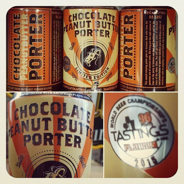 Did Chocolate Peanut Butter Porter come from a genius brewmaster or the brewing gods?  We say both and you gotta try this!