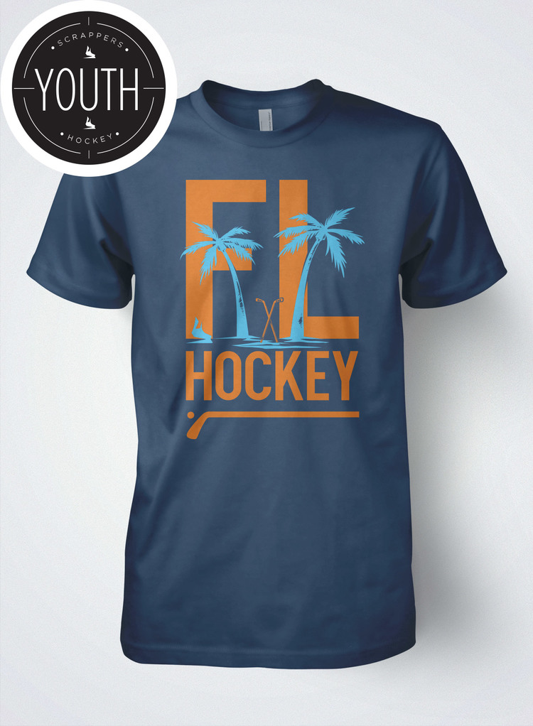 Scrappers Hockey Youth Florida Hockey Tee