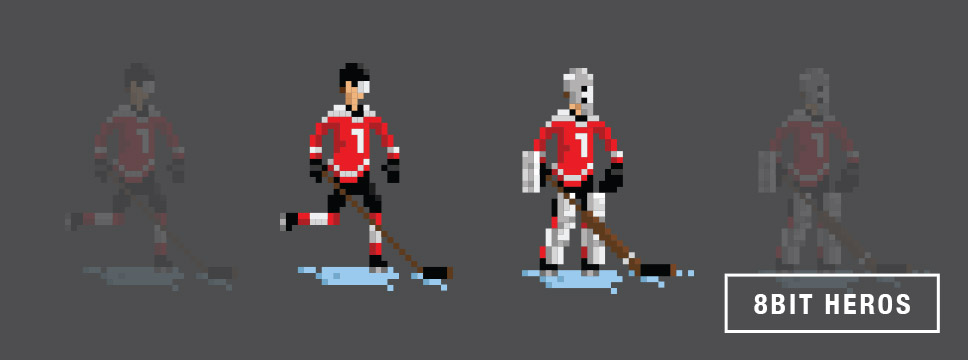 Scrappers Hockey Tee shirts 8Bit Heros