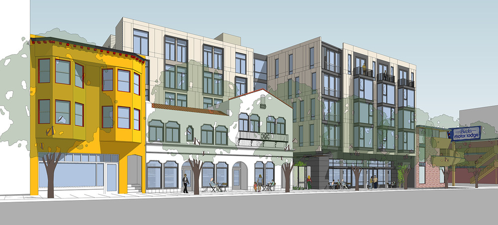 Rendering from Market Street