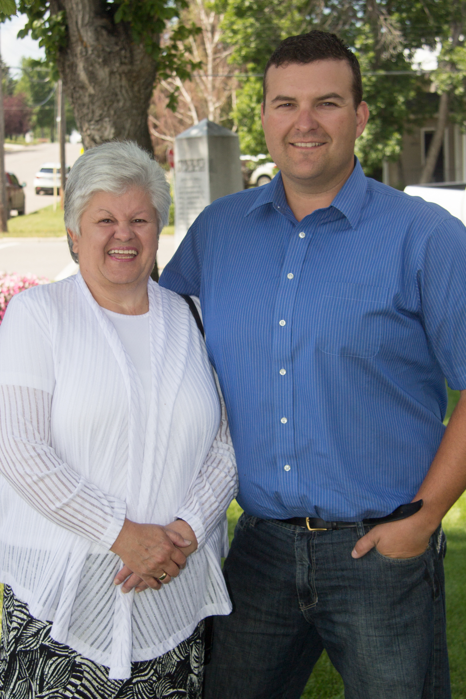 Jeremy Prete with Mayor Maggie Kronen