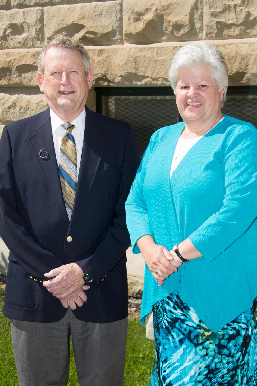 Howard Snyder with Mayor Maggie Kronen