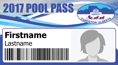 Each Pool Pass will have a unique barcode, and a photo of the pass holder.