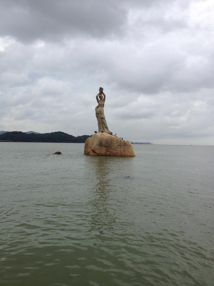 "Statue of the ""Zhuhai fish maiden"" - photo taken on the first day the DukeEngage 2014 cohort spent in the city. These students were hardworking, caring and inspiring. See their work here."