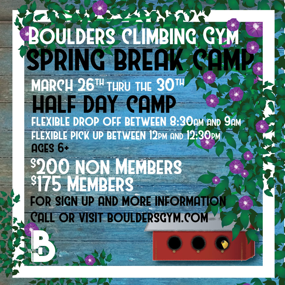Spring Break Camp - $25.00 off if you sign up by March 5th using promo code SPRINGBREAK25