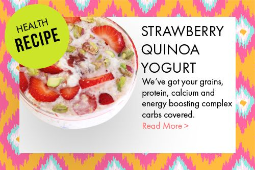 Strawberry Quinoa Yogurt