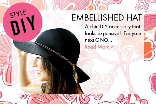 Do it yourself Embellished Hat