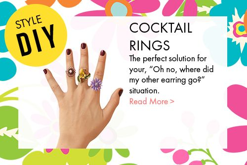 Do it yourself Cocktail Rings