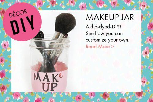 DIY makeup jar