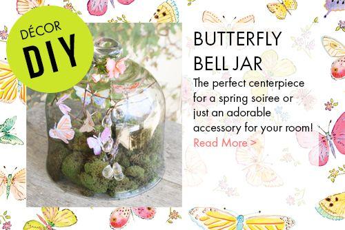Butterfly Bell Jar Entertaining Centerpiece
