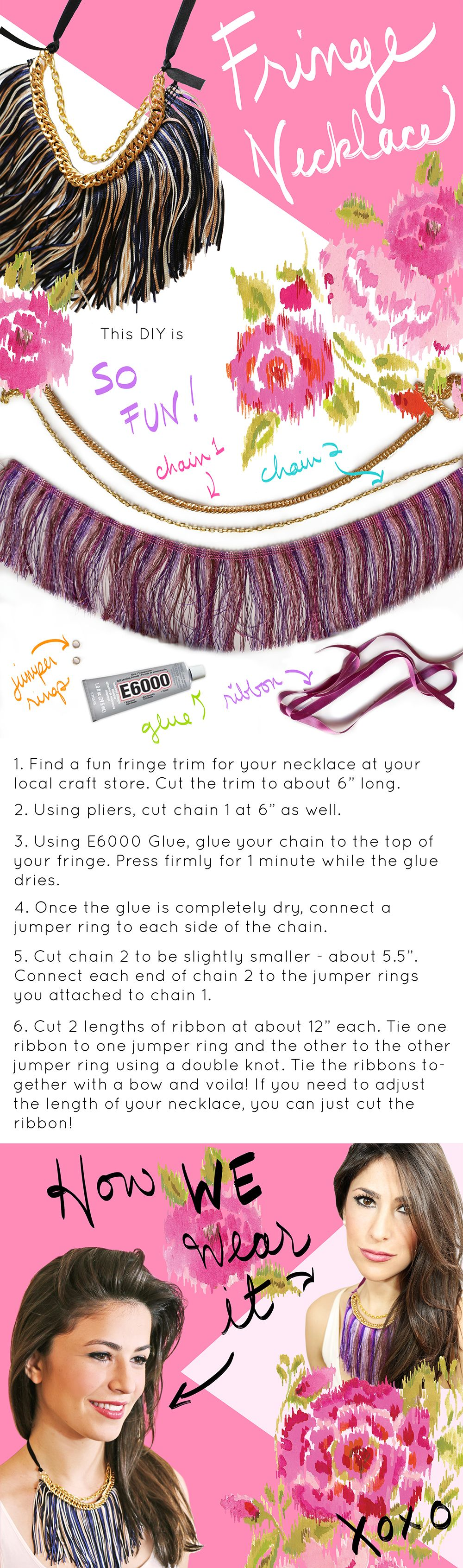 Do it yourself Fringe Necklace