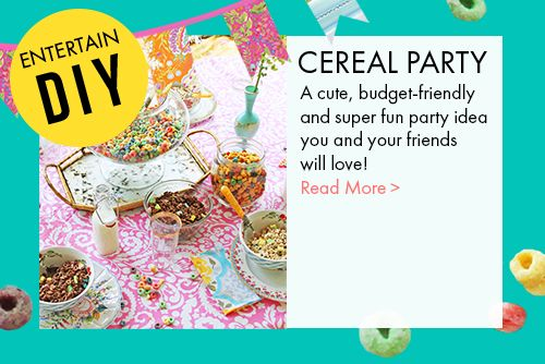 cereal party entertaining ideas