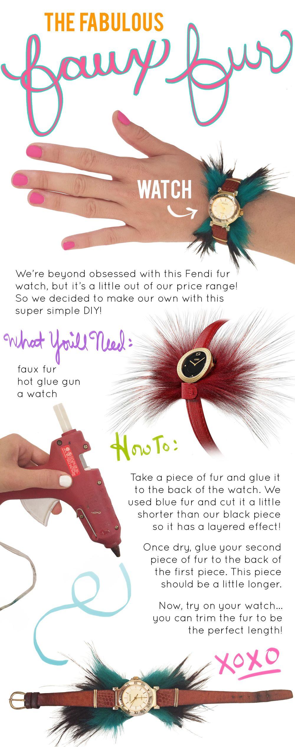 Faux Fur Watch