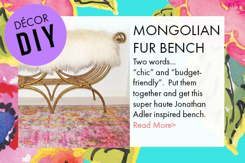 Mongolian Fur Bench