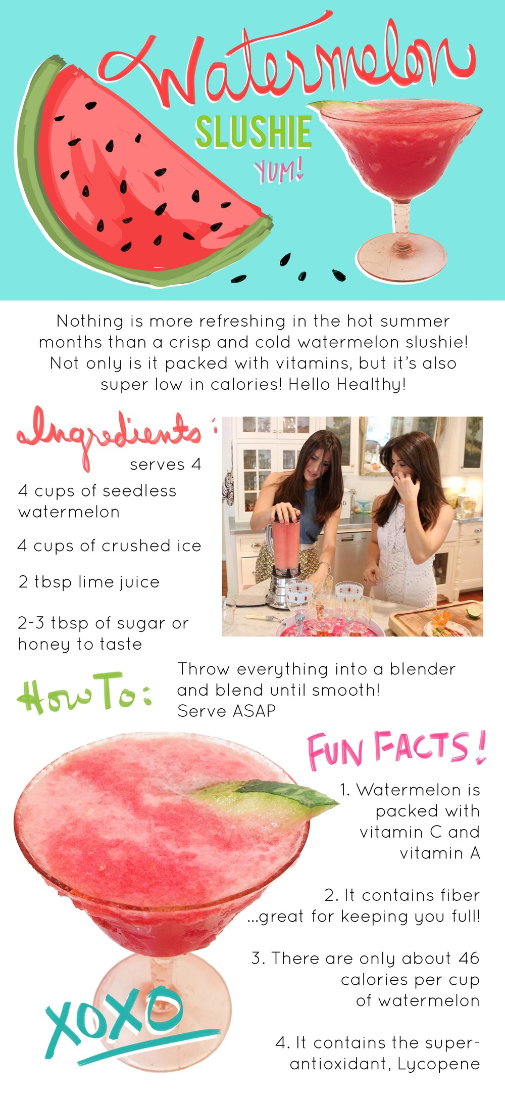 Watermelon Slushie Recipe