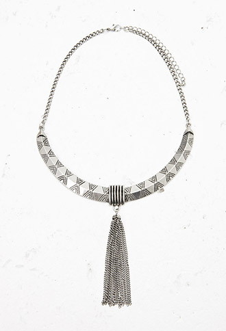 Tassel Bib Statement Necklace, $7.90