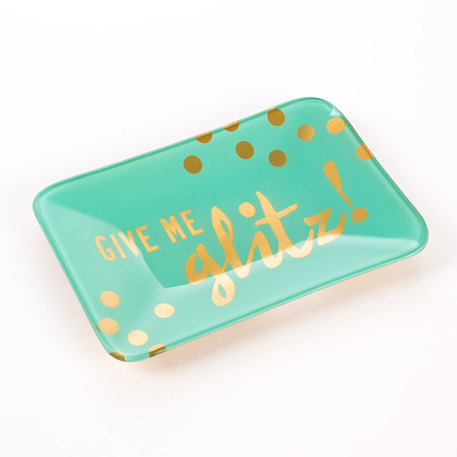 Give Me Glitz Trinket Tray, $9.95