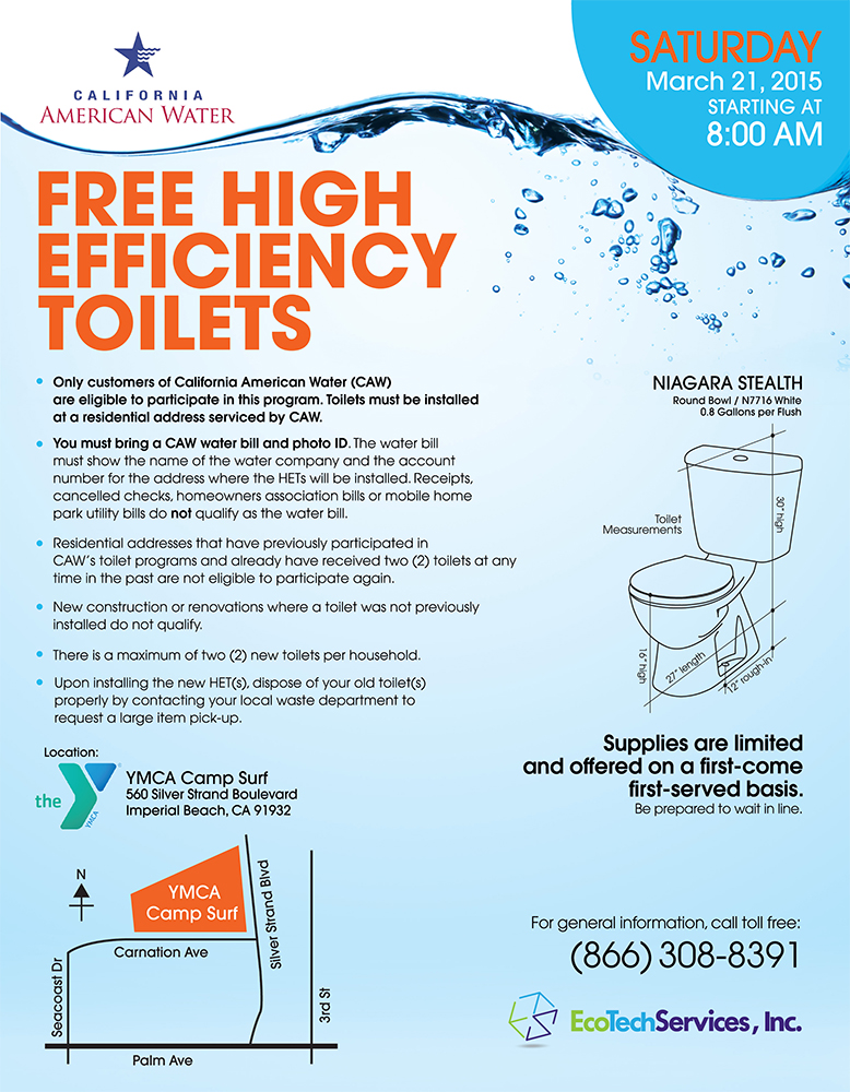 EcoTech California High Efficiency Toilets
