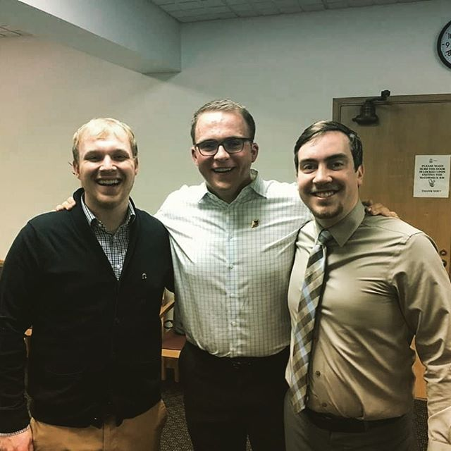 Oh they fancy! Congratulations to Greg, Ben and Doug who have been initiated into the Order of Omega! Also, sweet tie Ben!  #saepugetsound  #demboyzz