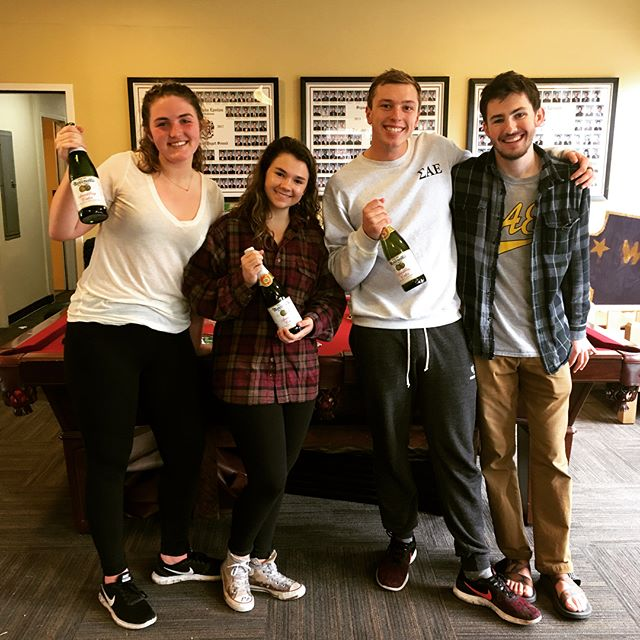 Awesome scavenger hunt with @pugetsoundpiphi! Meet our winners: Dylan, Marlo, Emily, and Ned. #goforthegold #pugetplunge #SAE💜PiPhi
