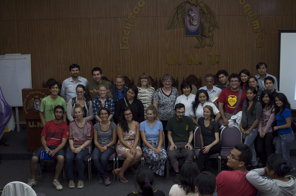 June 2014 - NPP students, participating research leaders, and UNT students and faculty. gather to hear Drs. Gail Willsky and Douglas Sharon speak about the biochemical properties of native Peruvian plants and related shamanism.