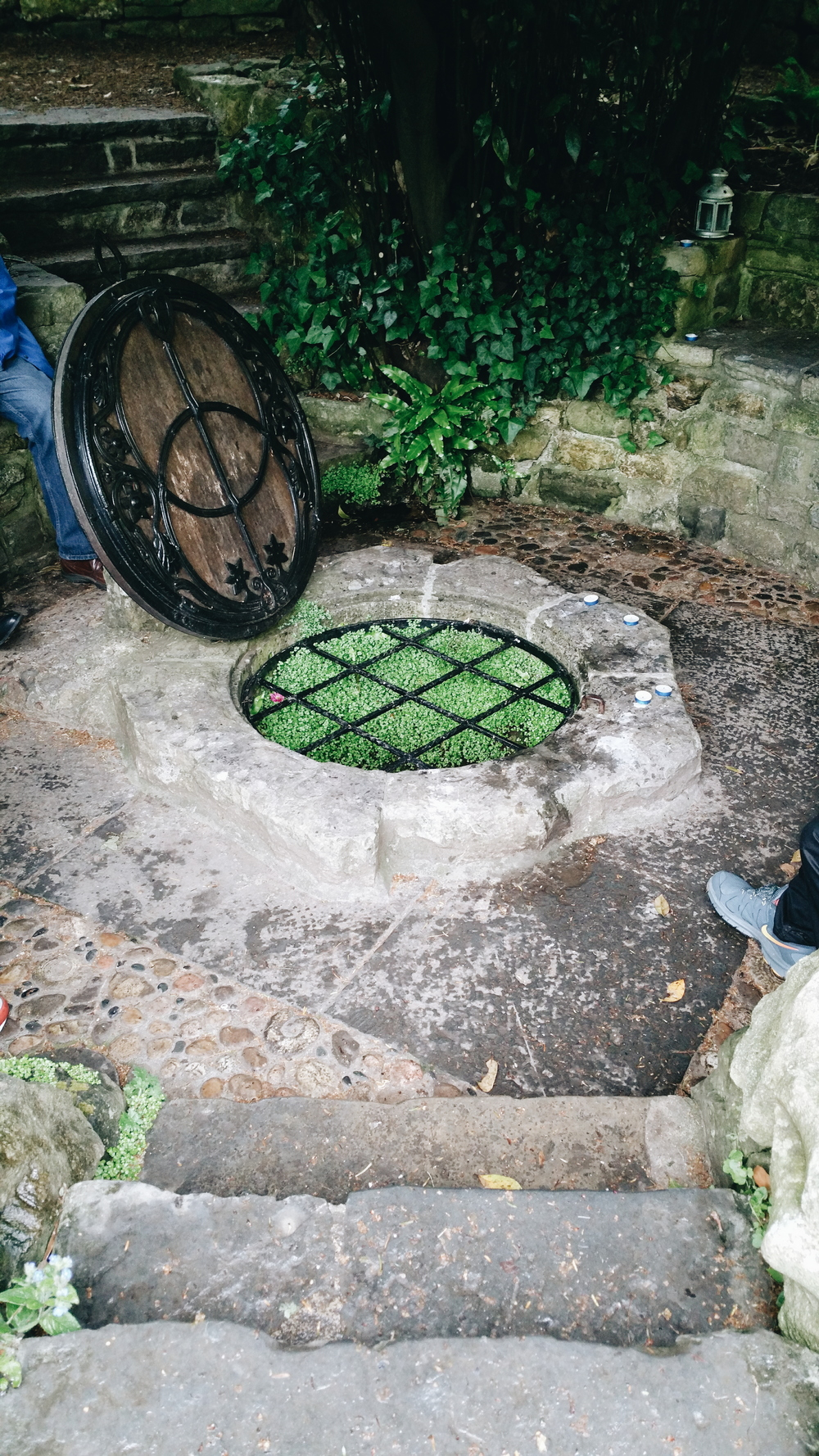 A view of the well at Chalice Well Gardens