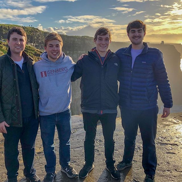 "TBT to exploring Ireland and drinking ""amber"" Guinness beer with these dudes"