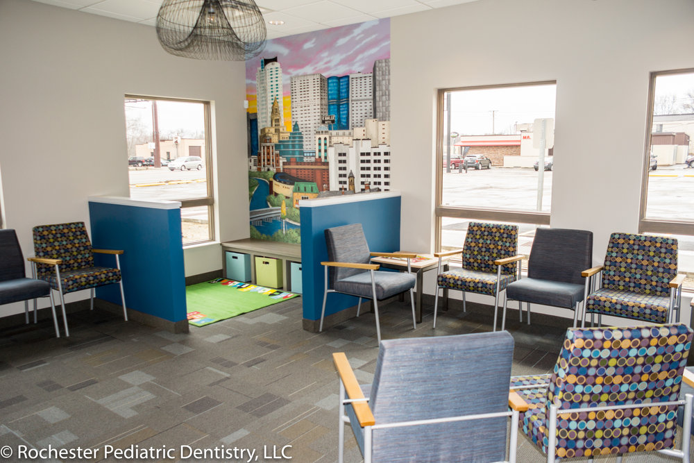 Rochester Pediatrics Dentistry   One of two spaces created by transforming a former restaurant. Rochester Pediatric Dentistry centers its services around children, while neighbor GLK offers orthodontic services
