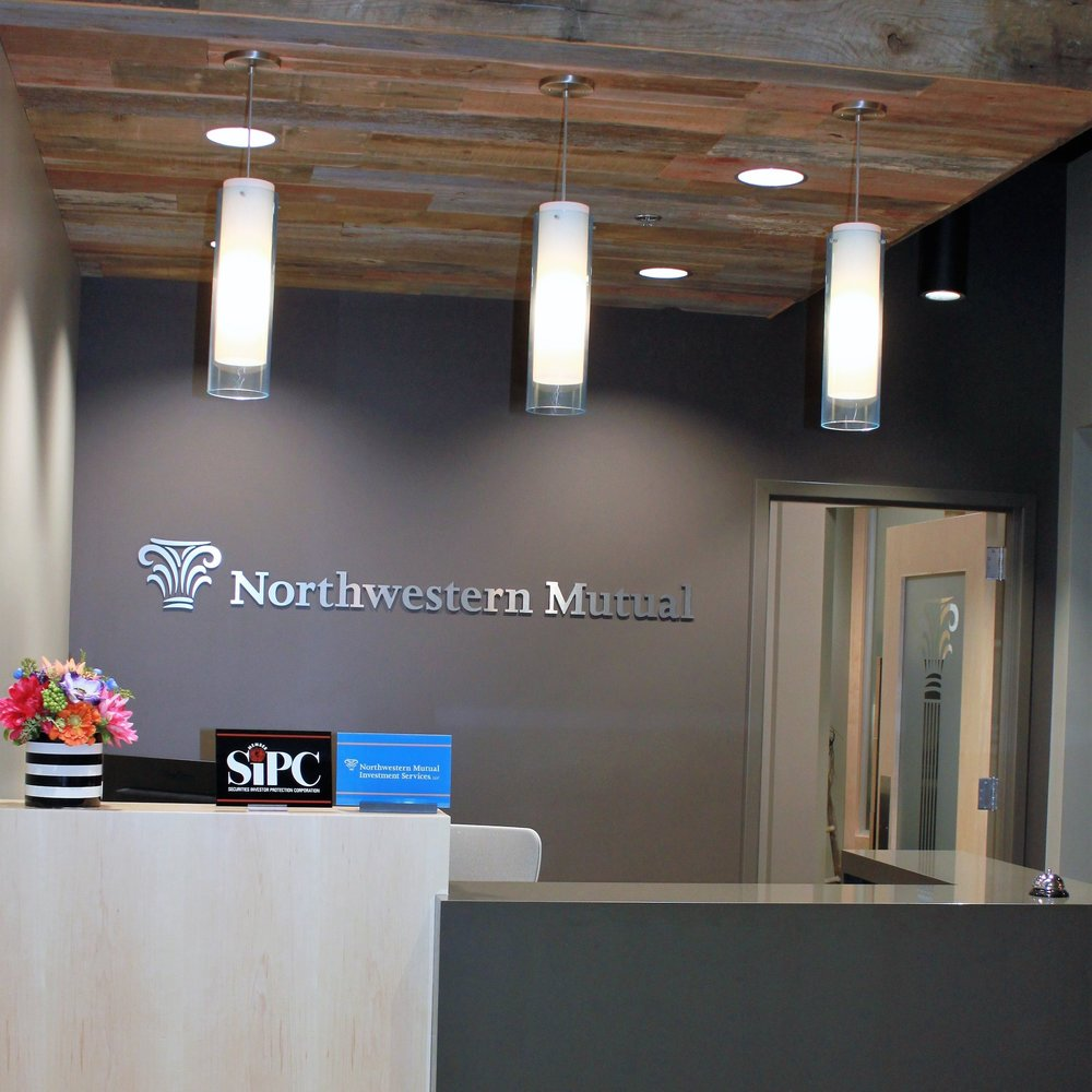Northwestern Mutual   1,799 square feet tenant improvement within the 32,608 square foot office building. TLS Companies worked with the client through finish selections, which included an extensive lighting fixture package.