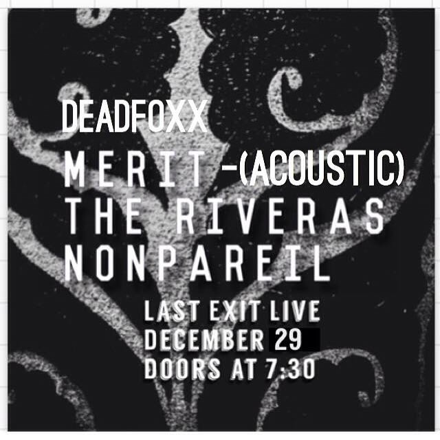 Dain is playing acoustic tomorrow night with our brothers and sisters in The Riveras. Come kick it. #meritband #bummerjams #acousticjams