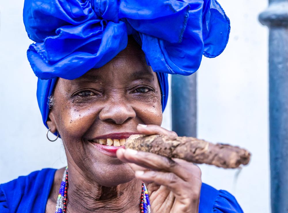 cuban woman smoking cigar in Havana, Cuba.jpg