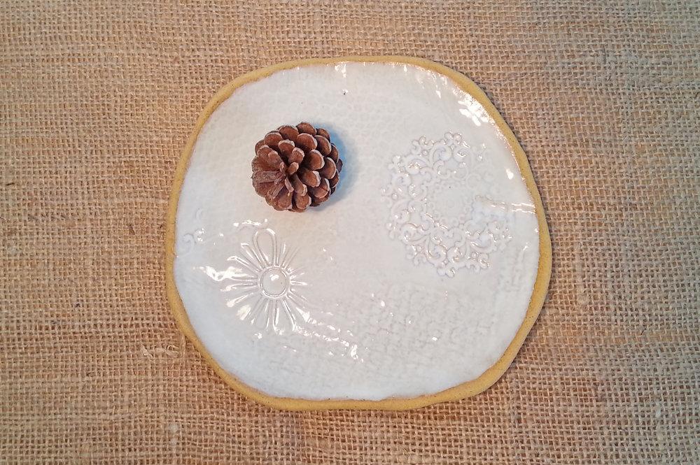 Plate- Hand-built ceramic, white glaze