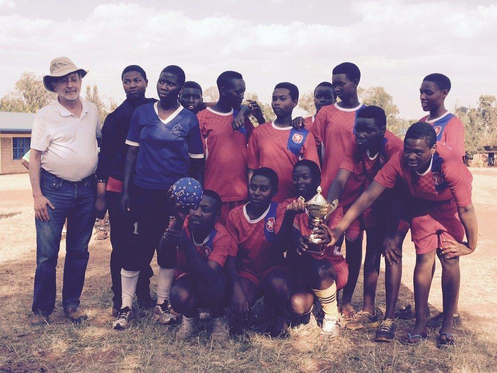 Duha handball team with reap executive director, ed ballen