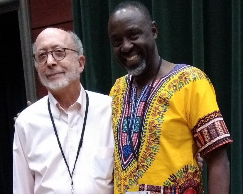 Ed with J ean-Paul Samputu , a fellow presenter at the Genocide Conference and a well-known Rwandan singer.  Best, Ed