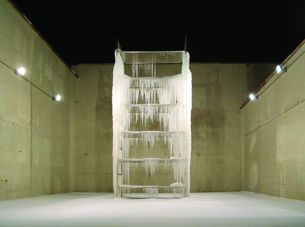 Image: Tony Stanzione, Cold Storage, steal, water / ©Tony Stanzione  ©Black & White Gallery/Project Space