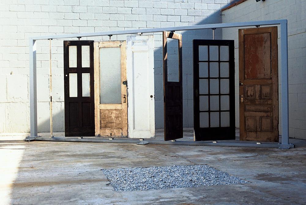 Image Tony Stanzione Entrada Bienvenito recycled doors metal frame hardware / & Tony Stanzione: Entrada u2014 Black u0026 White Project Space