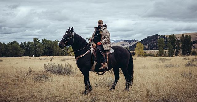 Patrick Moore on 'Fridge' #theranchatrockcreek #citizensreserve #horse #montana