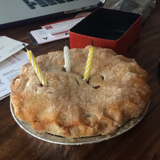 My surprise Birthday Pie!