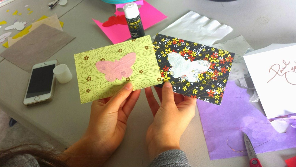Hand-made thank you cards and invitations to community collaborators.